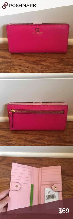 ❗️SALE❗️$118 Kate Spade wallet New with tags $118 Kate Spade Stacy wallet in Charlotte terrace in swpk/rsjad// brand new, perfect condition, never worn before. kate spade Bags Wallets