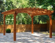The pergola kits are the easiest and quickest way to build a garden pergola. There are lots of do it yourself pergola kits available to you so that anyone could easily put them together to construct a new structure at their backyard. Costco Pergola, Cedar Pergola Kits, Curved Pergola, Building A Pergola, Pergola Attached To House, Deck With Pergola, Cheap Pergola, Wooden Pergola, Gardens
