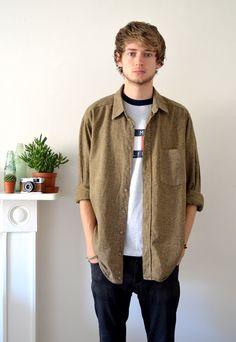 90s Vintage Olive Green Flannel Shirt | Ica Vintage | ASOS Marketplace