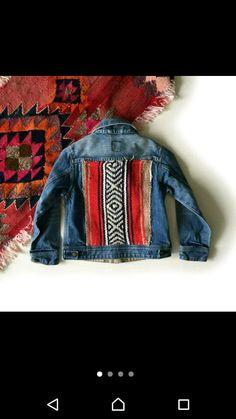 Customised denim jacket ethnic childrens insoiration