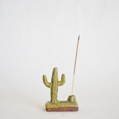 Exclusive collaboration with Individual Medley.Mini cactus landscape with a small boulder to hold your incense stick.Handmade in our Los Angeles studio. Each unique! Cactus Ceramic, Ceramic Clay, Ceramic Pottery, Paper Mache Crafts, Clay Crafts, Fun Crafts, Biscuit, Amber Resin, Incense Holder