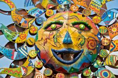 Mexican Folk Art Painted Metal Sun Stock Photo - Download Image Now - iStock Sun Stock, Painted Metal, Mexican Folk Art, Photo Craft, Metallic Paint, Photo Illustration, Royalty Free Images, Arts And Crafts, Stock Photos