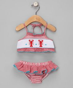 A cute little bathing suit for the munchkin...