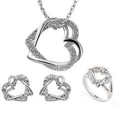 LYEP femelle bijoux exquis sautoir Boucles d'oreilles Bracelets Boucles d'oreilles chaîne de chandail (argent)