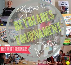 Thrown an AMAZING BeyBlades Tournament Party!  ALL PARTY PRINTABLES ARE #FREE!!!!