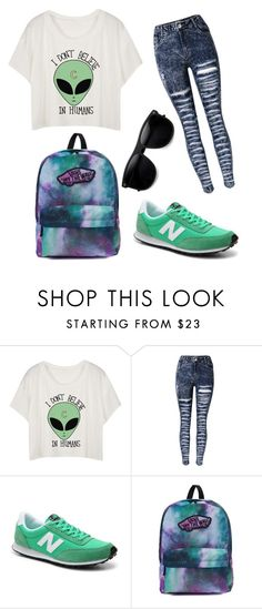 alien by worldofalicin on Polyvore featuring moda, New Balance, Vans and ZeroUV