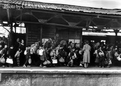 Shinjuku Station Platform. Tokyo 1945. Clifford McCarthy