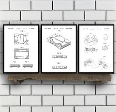 Sony Playstation Patents Set of 3 Prints, Playstation Trucks, Playstation Ramp, Playstation Blueprints, Playstation Art, Playstation, Sp408 by STANLEYprintHOUSE  7.50 USD  All of the posters are printed using high quality archival inks, and will be of museum quality. Any of these posters will make a great affordable gift, or tie any room together.  Please choose between different sizes and colors.  These posters are shipped in mailing tubes via USPS Fi ..  https://www.etsy.com/ca/l..