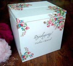 Drewniane pudełko na koperty ślubne - Moje-Decu - Dekoracje ślubne Invitation Design, Invitations, Design Concepts, Weeding, Wedding Cards, Decoupage, Decorative Boxes, Wedding Decorations, Container