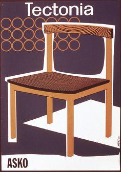 Tectonia tuoli - Askon vanha mainos Tom Of Finland, Mid Century Modern Furniture, Old Pictures, Floor Chair, Vintage Designs, Mid-century Modern, Furniture Design, Dining Chairs, Inspiration