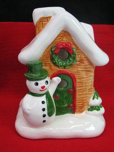 Christmas Figurine Candle Holder Lefton by FindingMaineVintage