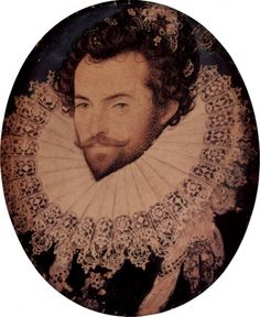 Nicholas Hiliard, Sir Walter Raleigh, 1585, Watercolour, 4,8 x 3,8 cm, National Portrait Gallery, London