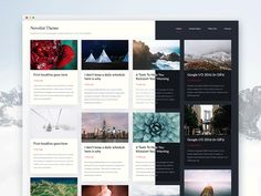 Novelist - grid based lightweight Wordpress theme by Piotr Kmita