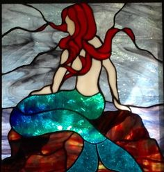 My first attempt at working with stained glass. When the rising sun shines through the bay window in my dining room the colors light up the room Stained Glass Angel, Faux Stained Glass, Stained Glass Designs, Stained Glass Patterns, Leaded Glass, Stained Glass Windows, Mosaic Glass, Window Glass, Mermaid Lamp
