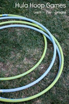 8 gross motor games with hula hoops for children of all ages.  Who knew you could do so much with a hula hoop?