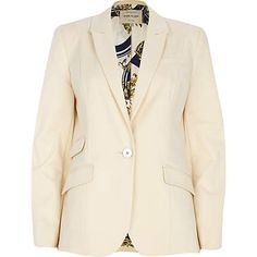 Cream cotton blazer $110.00