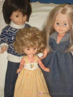 NANCY,LUCAS Y LESLY. NANCY DE OJOS DE MARGARITA Y BRAZO DURO. ORIGINALES. AÑOS70 (Juguetes - Muñeca española Moderna - Nancy y Lucas)