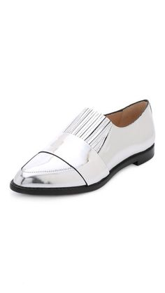 Metallic silver is totally a neutral.  Loeffler Randall Rosa Loafers