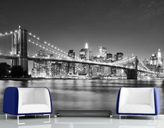 This high quality New York Brooklyn Bridge Skyline wallpaper is custom made to your dimensions. Easy to order and install plus FREE UK delivery within 2 to 4 working days. Brooklyn Bridge, Ponte Do Brooklyn, Manhattan Bridge, Brooklyn Girl, Manhattan Skyline, Manhattan Nyc, Wallpaper City, Bridge Wallpaper, Photo Wallpaper