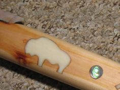 How to inlay bone, pearl or any material into wood