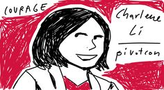 Brave or Courage? Great debate! // RT@charleneli speaking about courage at #pivotcon #doodlely