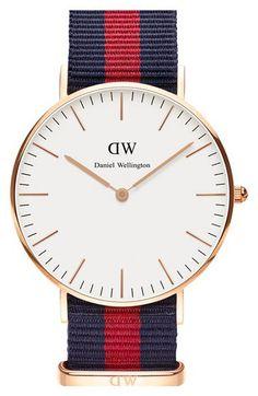 Daniel Wellington 'Classic Oxford' NATO Strap Watch, 36mm | Nordstrom