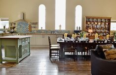 Open plan living/dining room/kitchen | The Old Cow Shed, Kidwelly