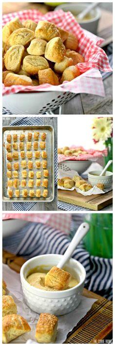 Easy Soft Pretzel Bites @FoodBlogs