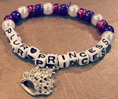 Plur Princess Kandi Bracelet with Crown Jewel by KandiKweens