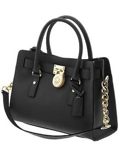 MICHAEL Michael Kors Hamilton black with gold hardware... what i want for christmas.... ahem