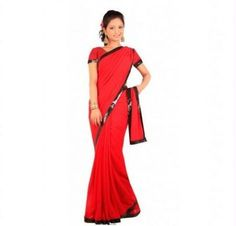50% Off on Kriaa-georgette Red Saree @799