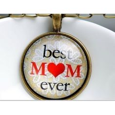 Best Mom Ever Cabochon Necklace