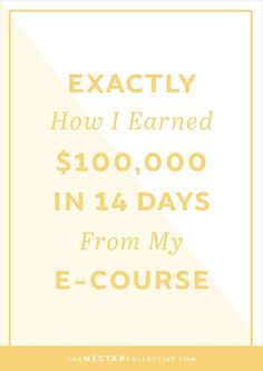 Exactly How I Earned $100,000 in 14 Days From the Launch of My E-Course