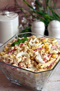 Easy Salads, Easy Meals, Salad Dishes, Dessert Dishes, Baked Chicken Recipes, Pasta Salad, Appetizer Recipes, Appetisers, Potato Salad
