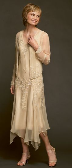 Or an older women's wedding dress - Justice of the Peace...... mother of the groom dresses