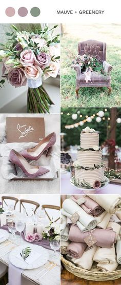 mauve and greenery elegant wedding color ideas for 2018 #weddingcolors #weddingideas #mauvewedding #greenerywedding #weddingtrends