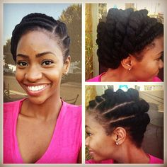 Liking Teyonah Parris flat twists.