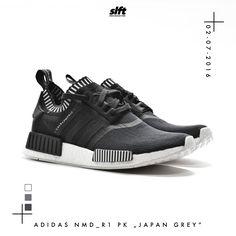 """Der NMD_R1 PK """"Japan Grey"""" von adidas kommt am 02.07.2016 und ist bei uns wieder…"""