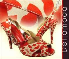 YSL sandals red lips Yves Saint Laurent Shoes for women (YSL25)