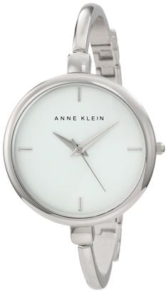 Anne Klein Watch , Anne Klein Women's AK/1049WTSV Silver-Tone Illusion Bangle Watch...$65.00