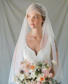 Annie Ekstrom Bridal Cathedral Juliet Cap Veil  www.annieekstrombridal.com