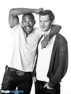 CHARLES MICHAEL & JOSEPH MORGAN They may play rivals on The Originals, The CW's spin-off of The Vampire Diaries, but Morgan happily accepts a noogie from costar Davis.