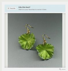 Cool Green Lily Pad Earrings Aluminum Earrings Offered by #Etsy #Aluminum #Jewelry #Glam https://www.etsy.com/listing/168868871