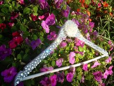 Bride Crystal Bling Wedding Dress Hanger.  This would be easy to make when you have the time.