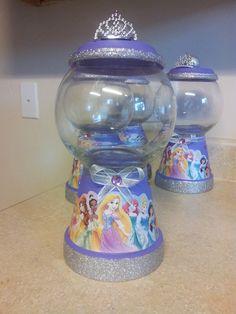 Disney Princess gumball machine (centerpieces)