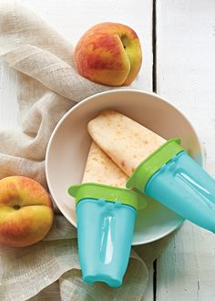 Peaches 'N Cream Ice Pops. Beat the heat with these frozen treats! http://jessicasullivan2014.my.tupperware.com/