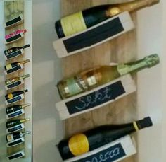This #diy #wine and #champagne #rack adds a touch of class to your home.