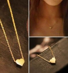 P.S. I Love You More Boutique   Dainty Gold Heart Necklace   Online Store Powered by Storenvy