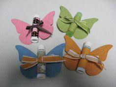I used the Beautiful Butterflies Bigz die.  I wrapped some of the chapstick with retired DSP and retired ribbon. I am selling these at the ...
