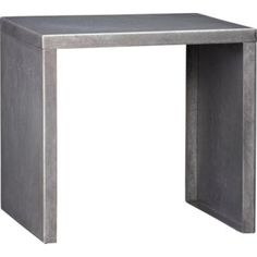 Thin, sleek square of hot-dip galvanized heavy-gauge steel does double-duty table/stool, indoors/outdoors.